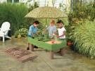 Hrací stolík s pieskom a vodou 2v1,detský stolík na vodu a piesok,pieskovisko s krytom