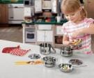 Súprava nerezových hrncov,detská súprava nerezového riadu,detský kuchynský set