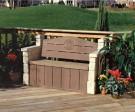 Lavička s úložným priestorom,záhradný nábytok