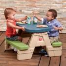detský záhradný nábytok,piknikový stolík so slnečníkom