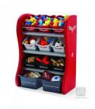 Policová skrinka na hračky Corvette,úložné boxy na hračky,box na hračky,detský nábytok